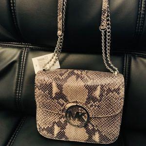 Michael Kors Fulton python print shoulder bag